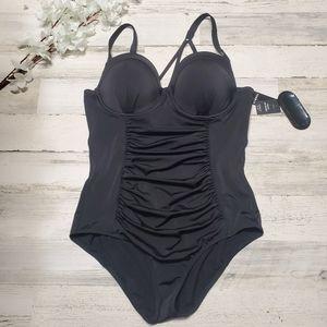 torrid Swim - Torrid black lattice pushup one piece swimsuit